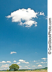 clouds on a blue summer sky