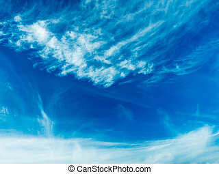 Clouds on blue sky background in Sunny summer day