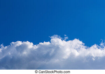 Clouds on blue sky background