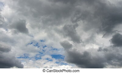 Clouds on blue sky in summer