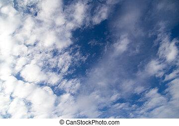 clouds on blue sky