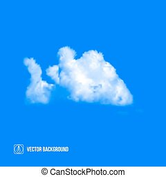 Clouds on blue sky. Vector