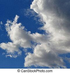 Clouds on blue sky vector illustrat