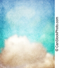 clouds on paper background