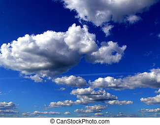 Clouds on sky - Clouds in the sky background