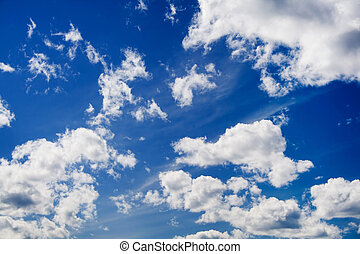 Clouds on sky texture