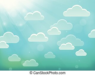 Clouds on sky theme 4