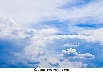 Clouds on the blue sky background