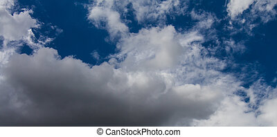 Clouds on the blue sky in cloudy days
