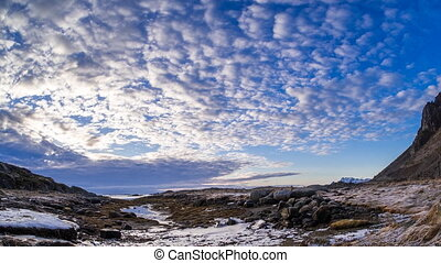 clouds on the coast of the Lofoten