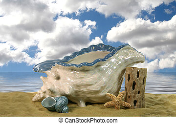 Clouds on the Ocean - Fantasy Background to Insert Your ...