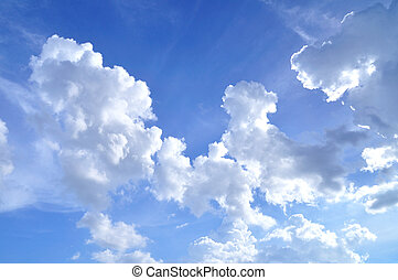 Clouds on the sky background