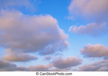 Clouds on the Sky - Clouds on the Blue Sky