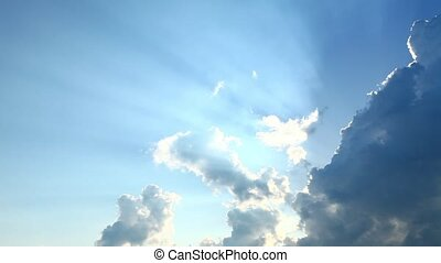 Clouds on the sunny sky