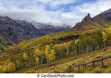 Clouds over a Colorado Autumn Mountain Landscape
