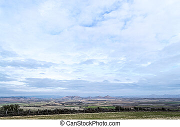 Clouds over Bardenas
