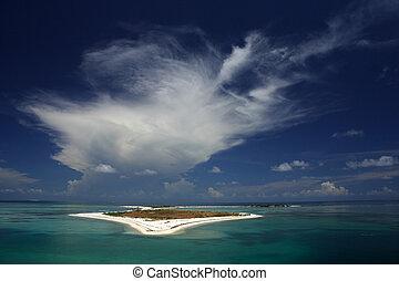 Clouds Over Bush Key - Clouds over Bush Key, Dry Tortugas...