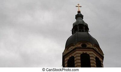 Clouds over Church Golden Cross Tim