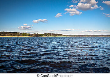 Clouds over Lake at summer