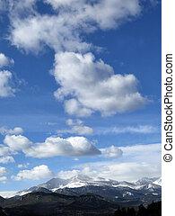 Clouds over Longs Peak Mountain