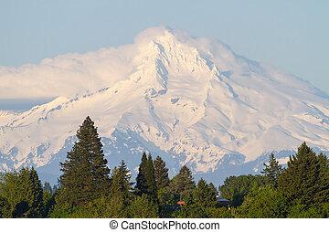 Clouds over Mount Hood Closeup