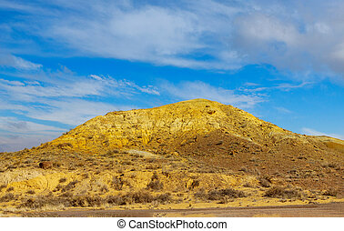 Clouds over New Mexico Red Rock Landscape, Southwest USA - ...