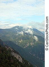 clouds over Tara mountain Serbia landscape