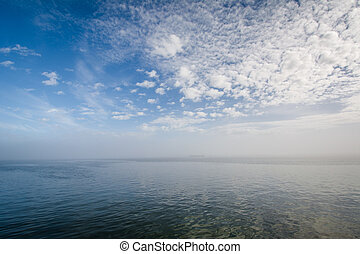 Clouds over the Cooper River, in Charleston, South Carolina.