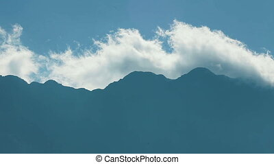 Clouds over the Fansipan mountain