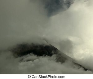 Clouds over the summit of Tungurahu