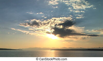 Yellowstone Lake - Clouds over Yellowstone Lake, Yellowstone...