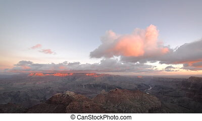 Clouds Passing by Grand Canyon