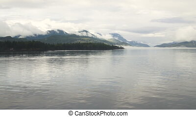 Clouds Persist on Ship Cruise Inside Passage Waters...