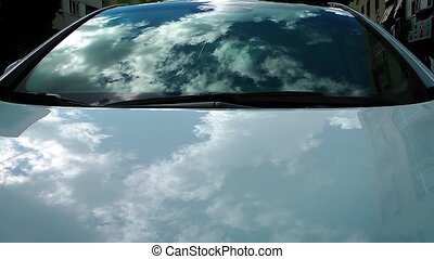 Clouds Reflection on the Car