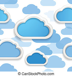 Clouds seamless background