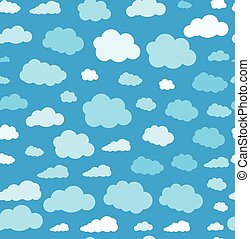 clouds., seamless, fond, papier