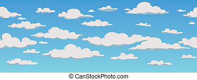 Clouds, seamless pattern background