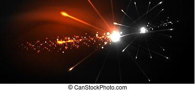 clouds., show., arrière-plan., coloré, noir, feux artifice, celebration., pyrotechnie, sombre, night., festival, ciel, résumé