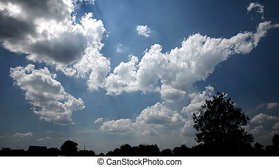 Clouds sky sun day nature