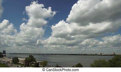 Clouds sky time lapse
