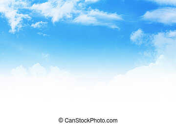 Clouds - Stock image of blue sky with clouds for background ...