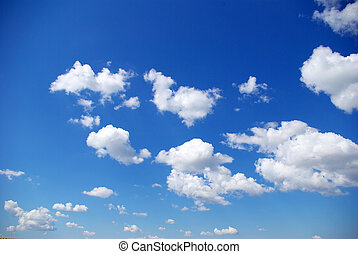 clouds - Blue Sky background with tiny clouds