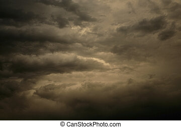 clouds - dramtic clouds during a storm
