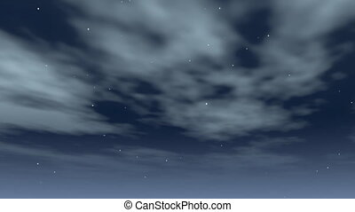 clouds swirling at night