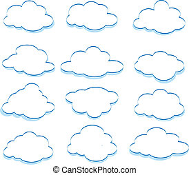 Clouds - The vector illustration of the clouds