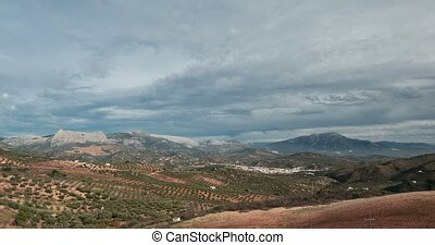 Clouds time lapse, Andalusia, Spain
