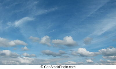 Clouds. Time Lapse.