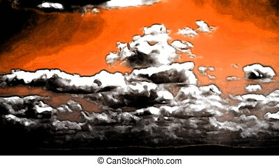 Clouds Timelapse Seamless Loop Abstract Art Animation