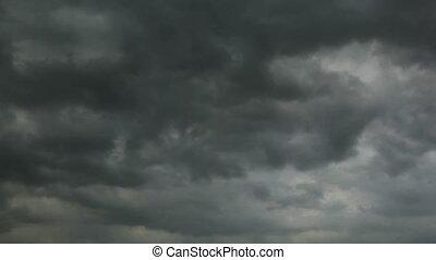 Clouds timelapse - Dark clouds timelapse