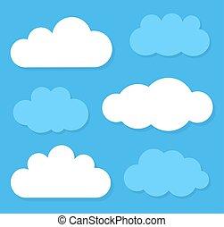 clouds., vecteur, illustration